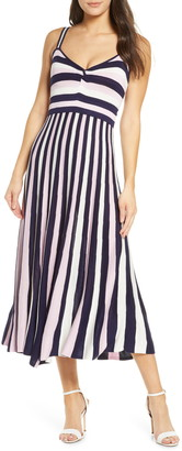 Foxiedox Lucia Stripe Midi Sweater Dress