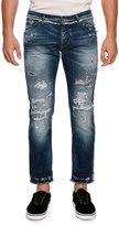 Dolce & Gabbana Paneled Distressed Straight-Leg Jeans