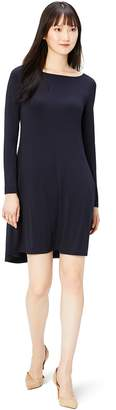 Amazon Brand - Daily Ritual Women's Jersey Long-Sleeve Bateau-Neck Dress