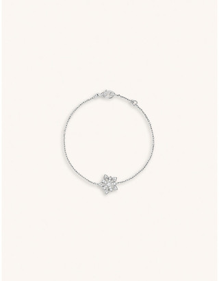 Van Cleef & Arpels Lotus Openwork white-gold and diamond bracelet