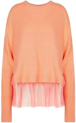 In.No Coral Opera Tulle Layered Sweater