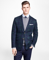 Brooks Brothers Black Watch Tartan Stretch-Wool Knit Blazer