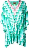 Missoni V-neck zig-zag dress