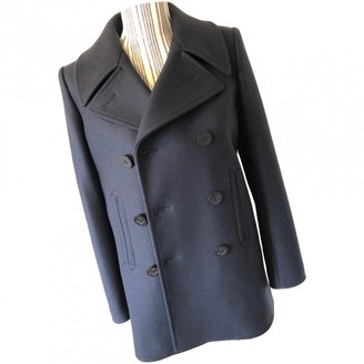 Saint Laurent Blue Wool Coat for Women