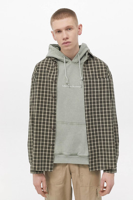 Urban Outfitters Brown Check Cotton Long Sleeve Shirt