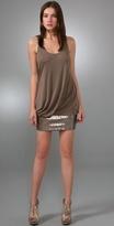Signature Draped Sequin Dress