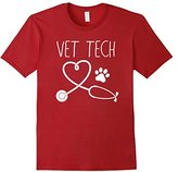 VET TECH LOVE Shirt, Animal Love Care Paw Print T Shirt