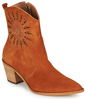 Fericelli MEYLIA women's Low Ankle Boots in Orange