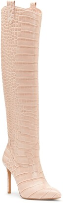 Vince Camuto Kervana Embossed Knee High Leather Boot