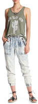 Vintage Havana Faded Wash Elasticized Hem Zip Pants