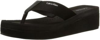 Calvin Klein Womens Mulan Flip-Flop Sandals Black Size: 3.5