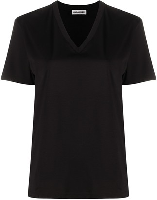 Jil Sander v-neck cotton T-shirt