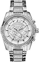 guess watches for men chronograph shopstyle guess men s chronograph crystal accent stainless steel bracelet watch 47mm u0291g1