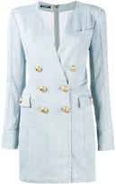 Balmain double-breasted denim mini dress - women - Cotton/Spandex/Elastane - 38