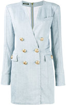 Balmain double-breasted denim mini dress