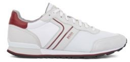 HUGO BOSS Running Inspired Hybrid Sneakers With Bamboo Charcoal Lining - White