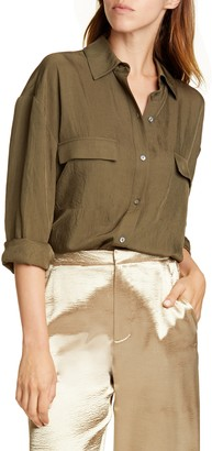 Vince Utility Button Up Top