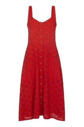 Yumi Broderie Anglaise Button Sundress