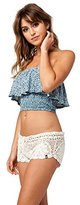Volcom Women's Dwell Beach Crochet Cover up Shorts