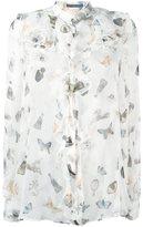 Alexander McQueen ruffled printed shirt - women - Silk - 40