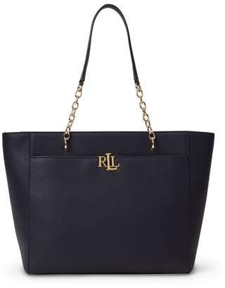 Lauren Ralph Lauren Langdon Medium Leather Tote Bag