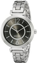 Nine West Women's NW/1769BKSB Silver-Tone Bracelet Watch
