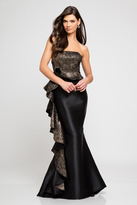 Terani Couture 1721E4120 Strapless Gown with Ruffled Side Panel
