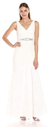 Adrianna Papell Women's Sleevless Tuille Chiffon Petal Gown