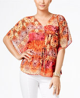 Thalia Sodi Printed Batwing-Sleeve Top, Only at Macy's