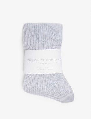 The White Company Ribbed cashmere bedsocks