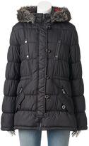 Urban Republic Juniors' Hooded Faux-Fur Anorak Jacket