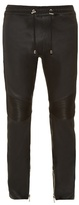 Balmain Calecon Leather Biker Trousers