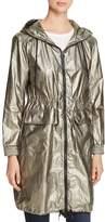 AVEC LES FILLES Long Metallic Leaf Windbreaker Jacket - 100% Exclusive