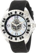 Police Women's PL-13090JS/28E Jade Crystal Bezel Purple Rubber Watch
