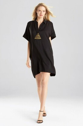 Natori Sanded Twill Caftan Dress