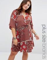 Alice & You Short Kimono Sleeve Tea Dress