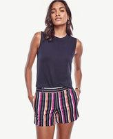 Ann Taylor Petite Striped City Shorts