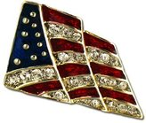 Stars & Stripes Products Crystal Flag Lapel Pin