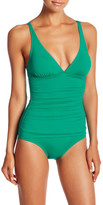 Tommy Bahama Ruched Triangle Top One-Piece Swimsuit