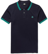 Paul Smith Slim-fit Contrast-tipped Cotton-piqué Polo Shirt - Navy