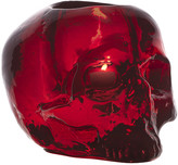 Kosta Boda Still Life Skull Votive - Red