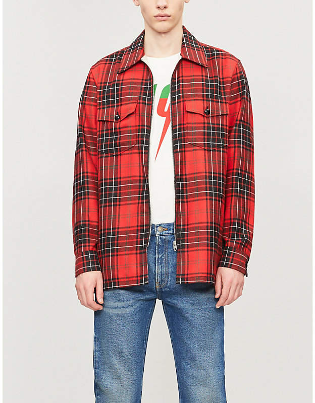 fce53d83 Gucci Check Men's Shirts - ShopStyle