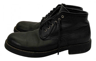 Comme des Garcons Black Leather Boots