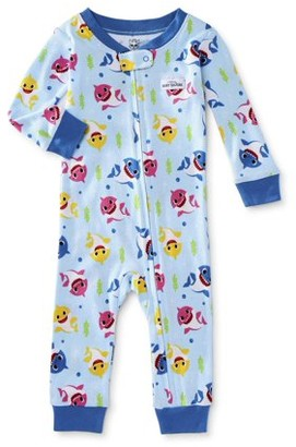 Baby Shark Baby Boy & Toddler Boy 1-Piece Snug Fit Cotton Footless Sleeper Pajamas (12M-4T)