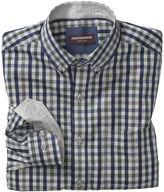 Johnston & Murphy Heather Gingham Button-Collar Shirt