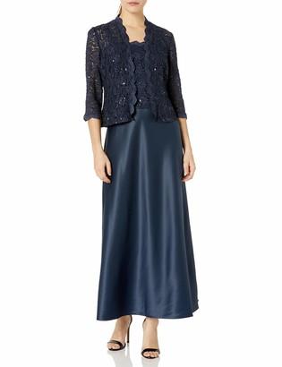 Alex Evenings Women's Sleeveless Dress and Matching Jacket Two-Piece Set