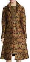 Etro Tapestry A-Line Topper Coat, Gold