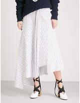 J.W.Anderson Striped cotton midi skirt