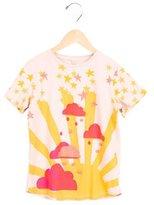 Stella McCartney Girls' Sun Print Embroidered Top