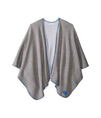 Calvin Klein Reversible Knit Blanket Stitch Shawl